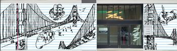 Golden Gate Doodle notebook