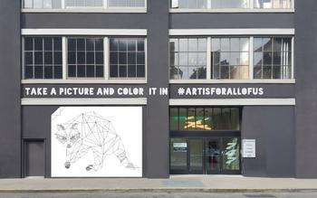Giant Geometric Coloring Page Urban Wildlife