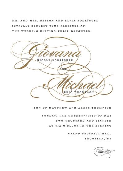 wedding invitations - Flourish by Jennifer Postorino