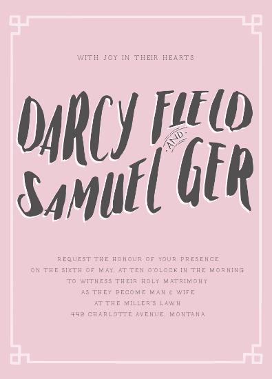 wedding invitations - Darcy by Ann Thomas