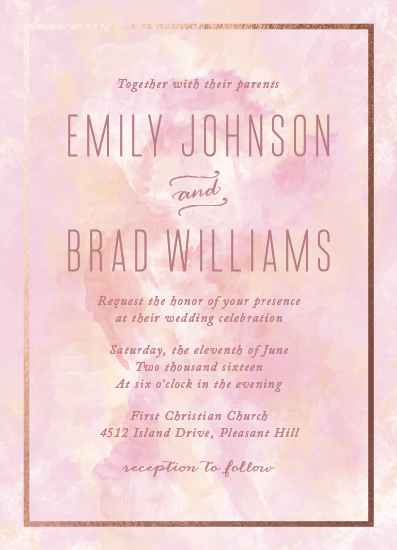 wedding invitations - Watercolor Elegance by AS Designs
