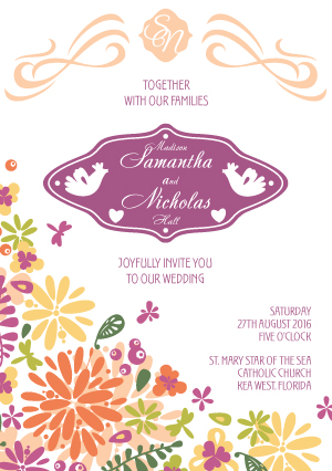 wedding invitations - romantic card by Alla Look