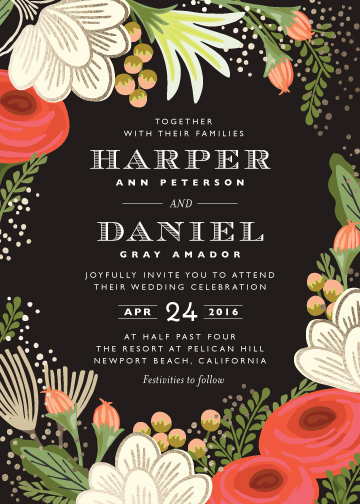 wedding invitations - Bolero by Griffinbell Paper Co.