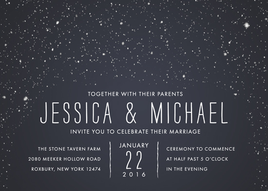 wedding invitations - Snowy Soiree by thenickdyer