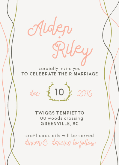 wedding invitations - Twiggy by Courtney James
