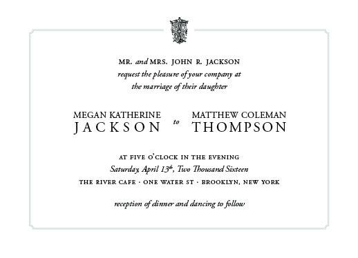 wedding invitations - Regal Monogram by Leanne Owens
