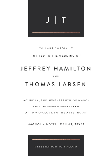 wedding invitations - Simply Dapper by Jessica Williams