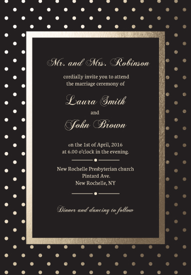 wedding invitations - Elegant polka-dot by Leysan Shayakbirova
