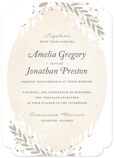 wedding invitations - Organic Frame by Jessica Williams