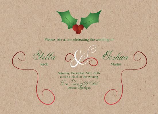 wedding invitations - Mistletoe Wedding Invitation by Jane S