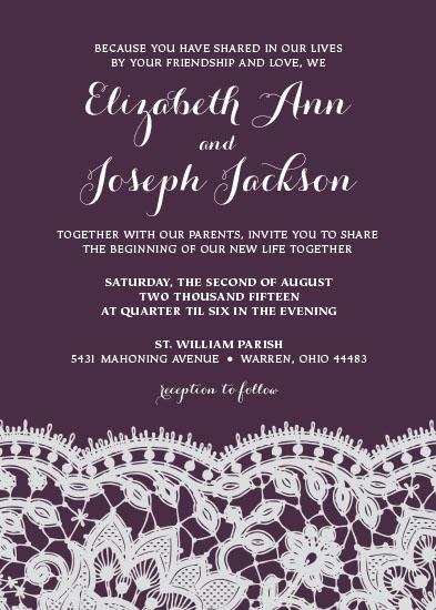 wedding invitations - Bold Lace by EKJ designs