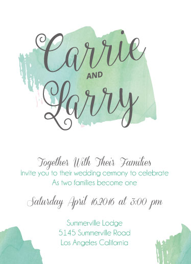 wedding invitations - Mint To Be Loved by Corey Hudson