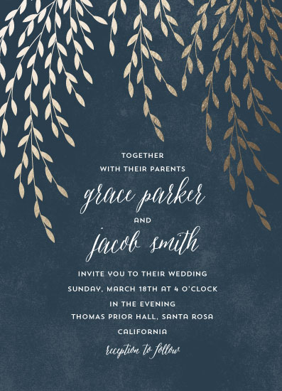 wedding invitations - Foil Foliage by Anupama