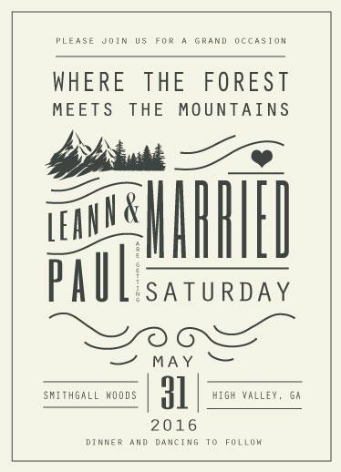 wedding invitations - Mountain Affair by Hannah Williams