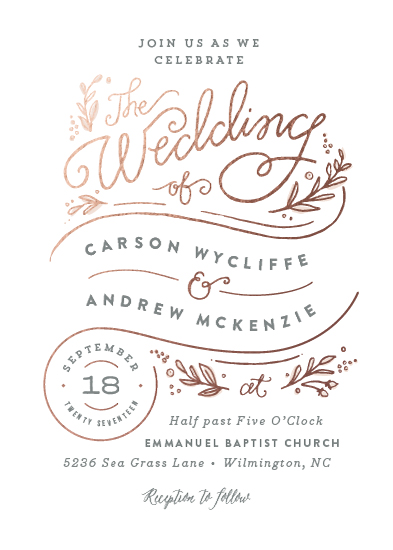 wedding invitations - Rolling names by Jennifer Wick