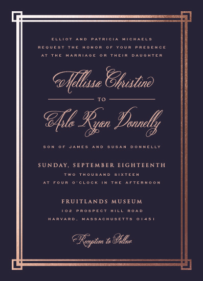 wedding invitations - Elegant Border by sparky