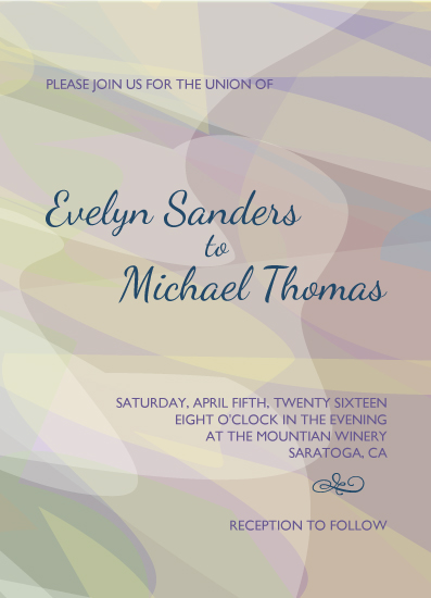 wedding invitations - Abstract Flow by sprinkledwithcolor