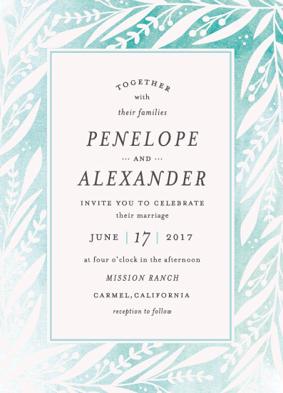 wedding invitations - Breezy Branches by Olivia Raufman