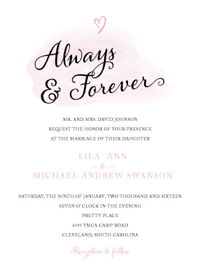 wedding invitations - Always and Forever by Lisa Krueger