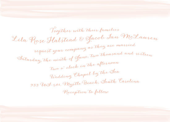 wedding invitations - Watercolor Romance by Lisa Krueger
