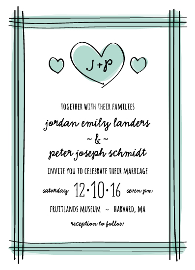 wedding invitations - Drawn Together by sparky