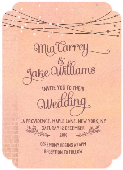 wedding invitations - Elegant Shimmer by Anja de Lange