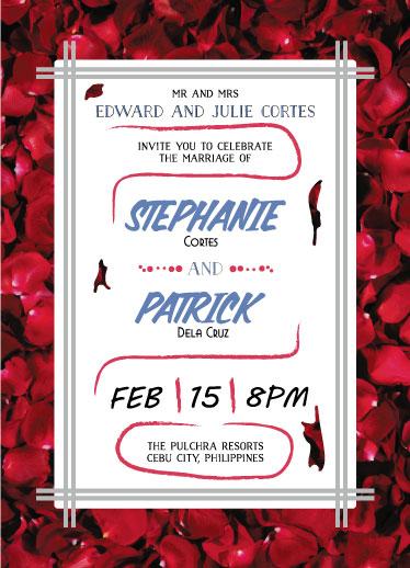 wedding invitations - Flower Petals by Adrian