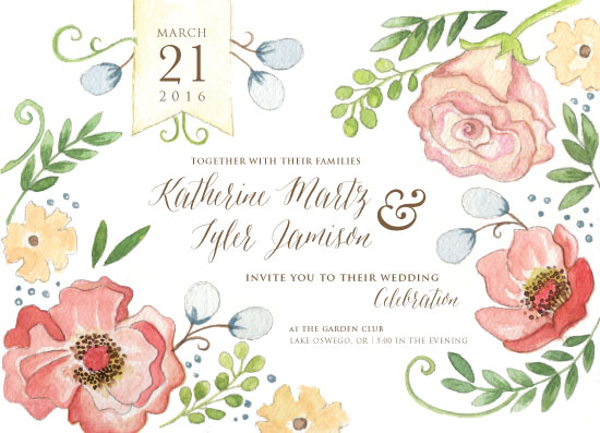 wedding invitations - Garden Bloom by Debbie Conrad Johnson