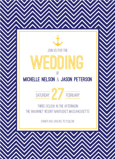 wedding invitations - Nautical Stripes by Laura Rodil
