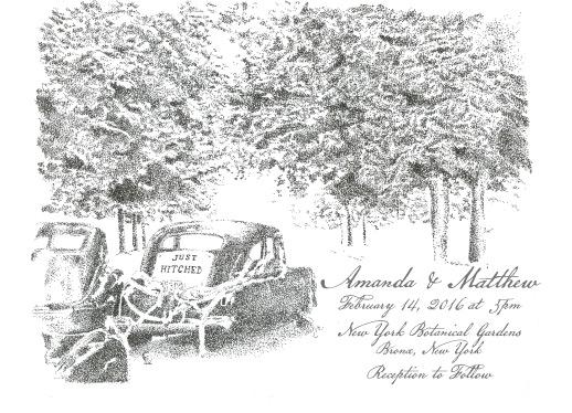 wedding invitations - Winter Wedding Wonderland by tuccicursive
