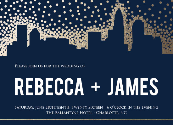 wedding invitations - Charlotte Skyline by Jenna Pennell