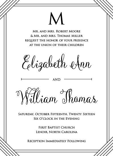wedding invitations - Middle Monogram by Jenna Pennell