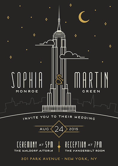 wedding invitations - Empire by GeekInk Design