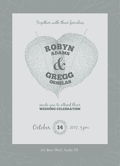 wedding invitations - Leaves of Love by Olga Maystruk