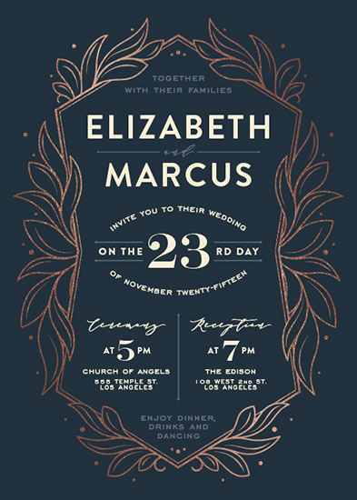 wedding invitations - Engraved by GeekInk Design