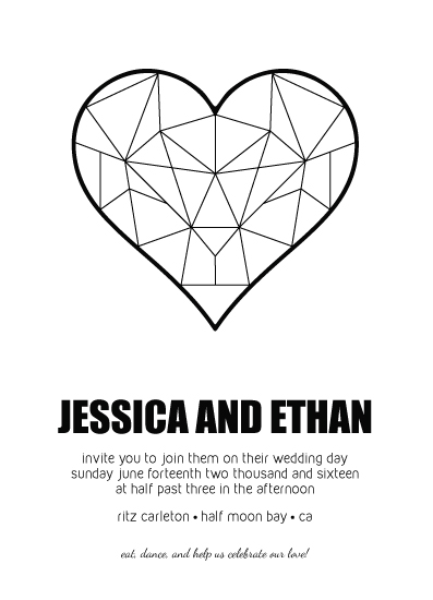 wedding invitations - Love Geometry by sprinkledwithcolor