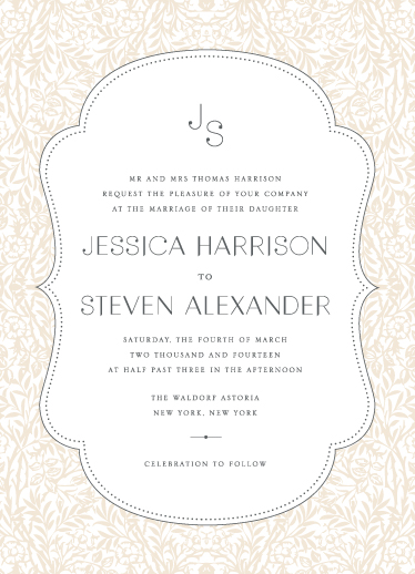 wedding invitations - Morris by Shayna Brown