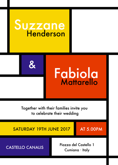 wedding invitations - Mondrian Dreams by Marga Miret