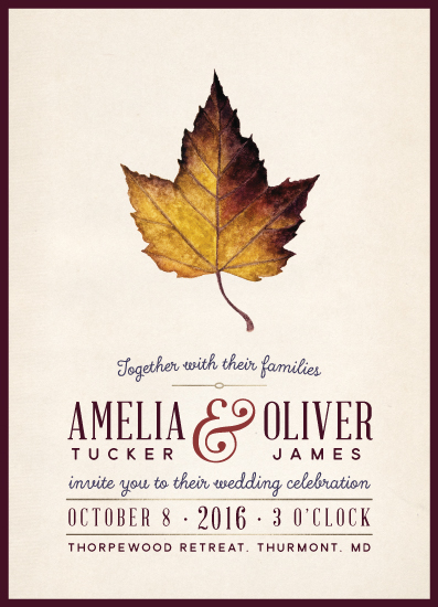 wedding invitations - Hushed October by Cherry Tree