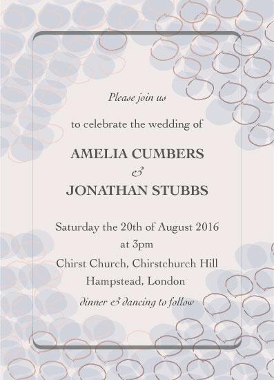 wedding invitations - Paper Petals by Jessie G