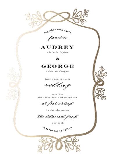 wedding invitations - Botanical Knot by fatfatin