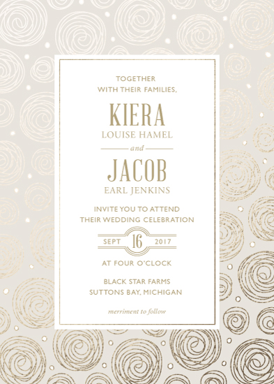 wedding invitations - Twirling Rosettes by Melissa Casey