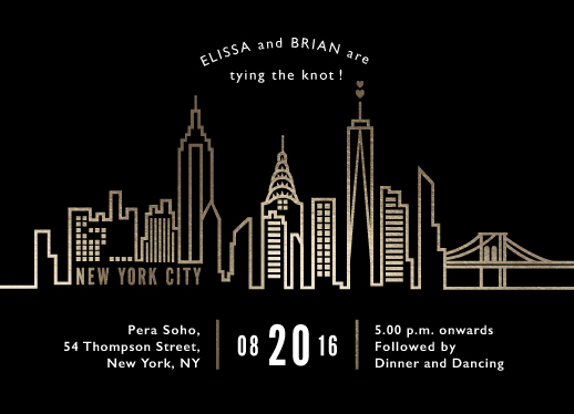 wedding invitations - NYC City Scape by Mansi