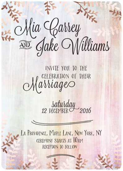 wedding invitations - Rosy Hues by Anja de Lange