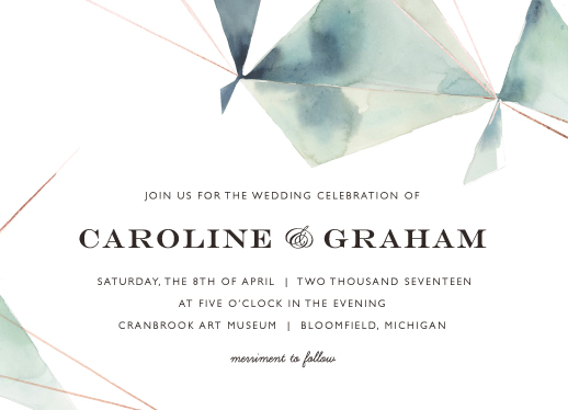 wedding invitations - Prism by Kelly Ventura