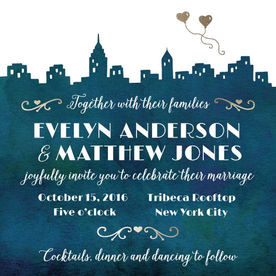 wedding invitations - City Romance by Jeanine Murch