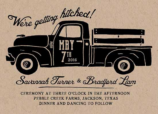 wedding invitations - Hitched by Katherine Franzen
