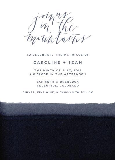 wedding invitations - Dip Dye Mountainside by Anna Brown
