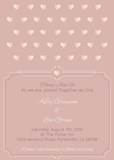 wedding invitations - Rose Gold Love by Simply Leah Jean