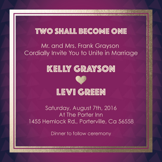 wedding invitations - Geometric Love by Simply Leah Jean